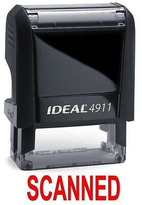 Scanned Stamp Text On Ideal 4911 Self-inking Rubber Stamp Red Ink
