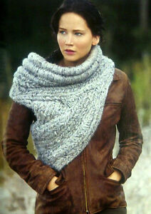 Katniss-inspired hand-knitted cowl/sweater