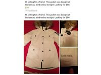 Girls jacket - white diesel aged 12