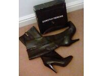 Black, leather knee high boots size 5