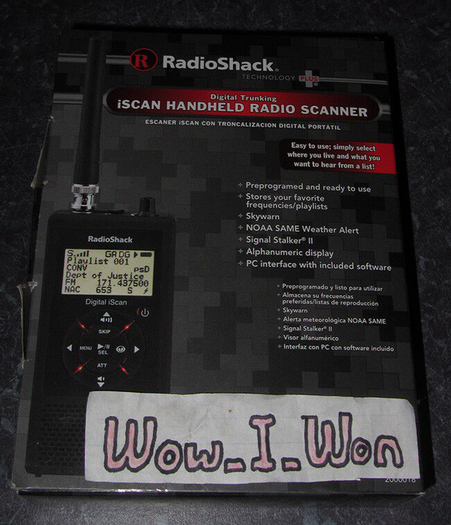 NEW Radio Shack PRO-18 Handheld iScan Digital Trunking Scanner P25 By GRE Grecom