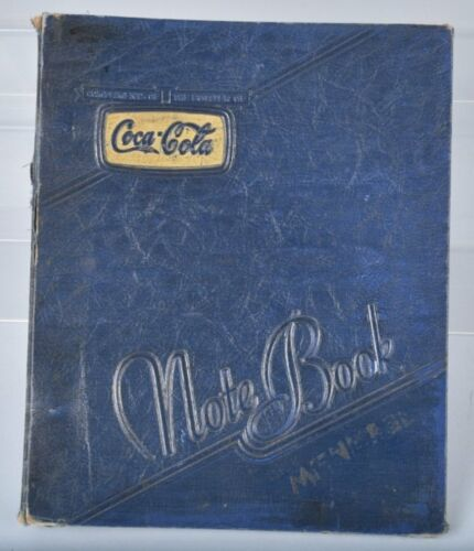 1941 Coca Cola Notebook Cover with Original Keystone Filler Paper