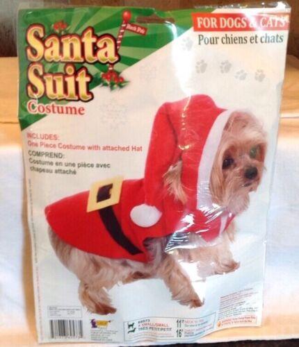 Santa Claus Suit Pet Costume Cute Dog Father Christmas Fancy Dress Size Small