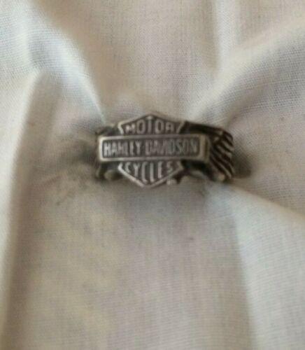 VTG Sterling Silver Bikers Harley Davidson ring size-8      132