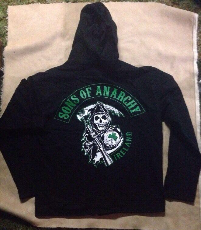 Sons Of Anarchy Ireland Fleece Hoodie Jacket - Brand New W/tag - Size Small