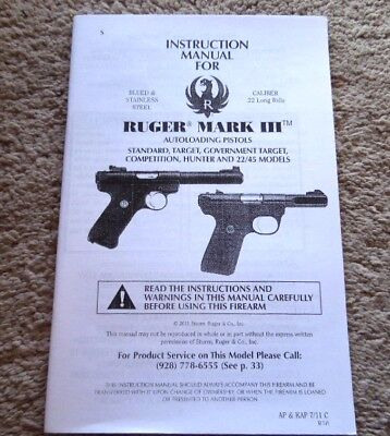 manuals pistol instruction