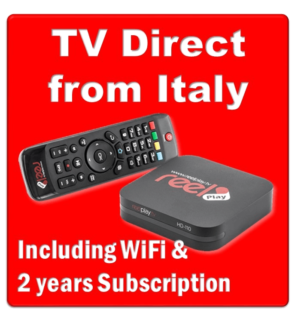 Real Play TV, over 55 Italian TV Channels,  Rete Italia, Reelplay