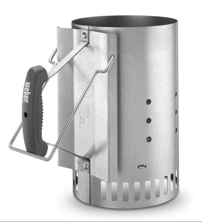 Charcoal Chimney Starter Weber Rapidfire Lighter Grill Cooko