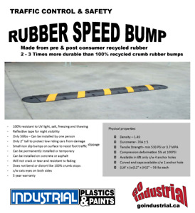 Rubber Speed Bump for Traffic Control!