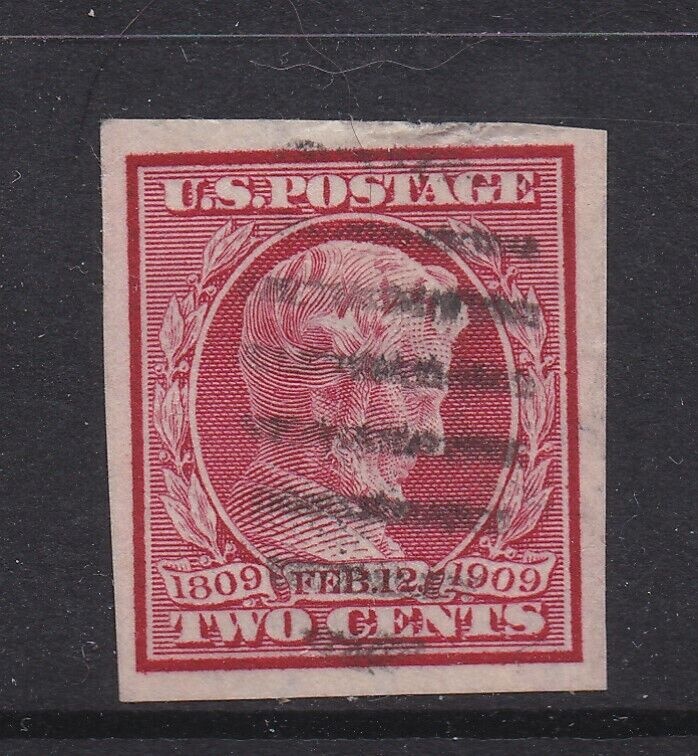 1909 Abraham Lincoln Birth Centenary Imperf Used Sc 368 08282008 - $7.50