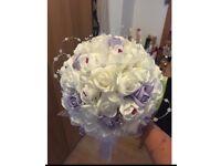 Lilac & Ivory brides bouquet