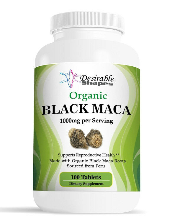BIO PERUVIAN NOIR MACA ROOT 1000mg 100 TABLETTES BOUTEILLE Male Enhancement