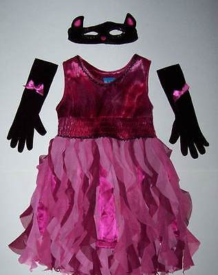 The Children's Place TCP PINK KITTY COSTUME DRESS & ACCESSORIES Mask gloves 5-6 (Kitty Costume Accessories)