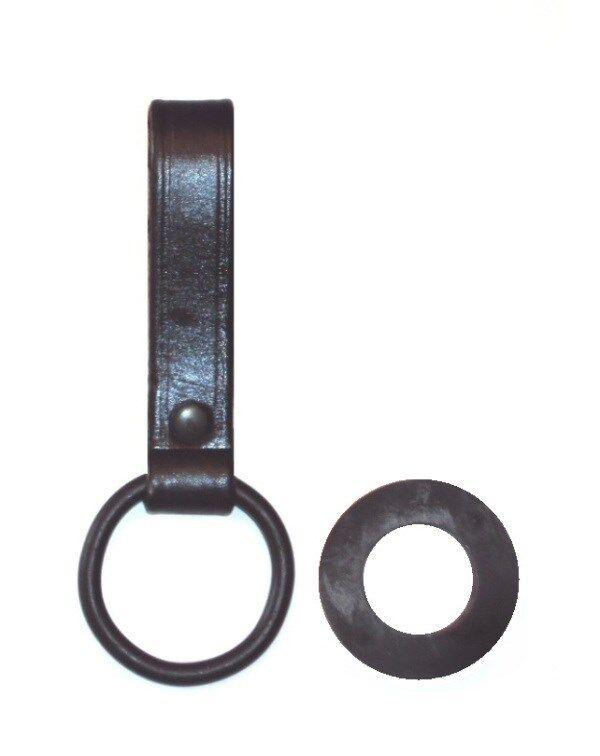 USGI Flashlight Holder C Cell Belt Loop Baton Plain Leather Black USA 9441 NEW