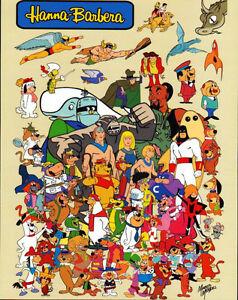 Hanna-Barbera-SUPER-HEROES-amp-CHARACTER-COLLAGE-PRINT-Yogi-Space-Ghost-Herculoids