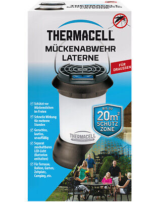 Thermacell Mückenabwehr Laterne mit LED-Beleuchtung