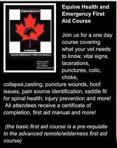 Equine First Aid Courses Fall/Winter Season