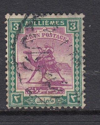 Sudan 1922 KGV 3m mauve & green - used. SG 32. Sc 31.