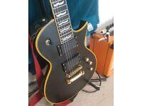 ESP LTD EC 1000 VB-Les Paul Shaped Guitar EMG Pickups -EC1000 + Gator Hard Case (not gibson ibanez)