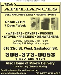 Mikes Appliance Repair  to all makes gas & electric $60 min.