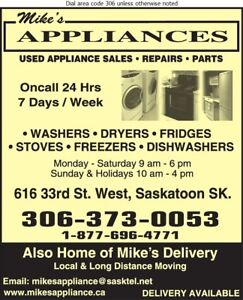 Refrigeration : service-repairs appliance sales 306 202 2893