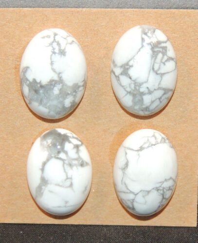 Howlite Cabochons 13x18mm with 6.5mm dome set of 4  (12134)