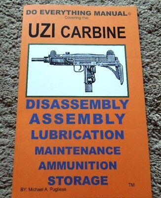 Israeli UZI Carbine 9mm Nato  Manual 47 Pages  - Uzi 9mm