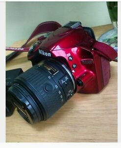 [Used] Red Nikon D3200 24.2 Mp 18-55mm digital SLR