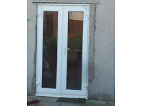 White UPVC double glazed french door for sale
