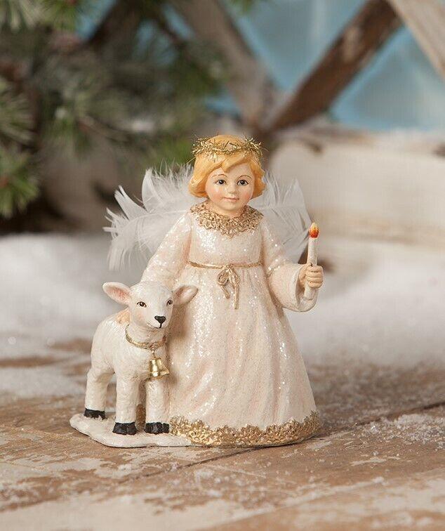 Bethany Lowe Rosalee Angel with Lamb Christmas Figure TD8568