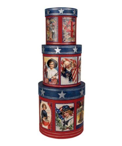 Bethany Lowe - Americana - Nesting Boxes - Set of 3  - TP6162