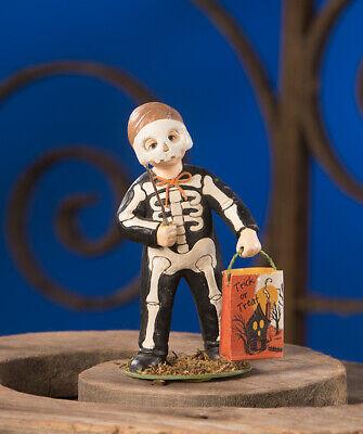 Bethany Lowe GRIM SKELETON BOY - NICE! TD9051 NEW Halloween Figure