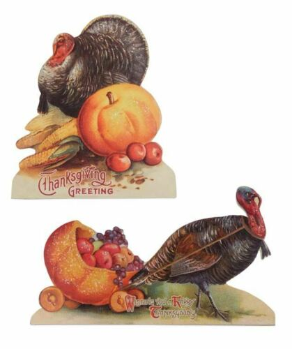 Bethany Lowe - Autumn - Thanksgiving Turkey Dummy Board Set - RL6846