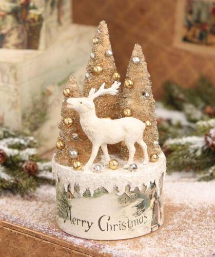 Bethany Lowe Christmas Vignette Box TP6197 Reindeer w/Trees on Box