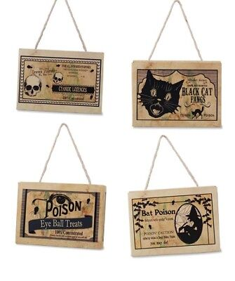 Bethany Lowe Apothecary Halloween Potion Treat Boxes Ornaments Decorations Set/4