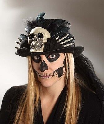 Voodoo Skull Top Hat Skeleton - Costume Halloween - Bethany Lowe RL4715