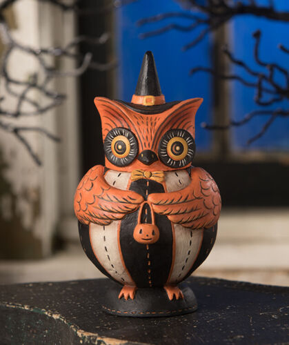 Johanna Parker Bethany Lowe OWLSTER HOOTS SPOOKS JAR JP9238 Halloween Owl Cute!