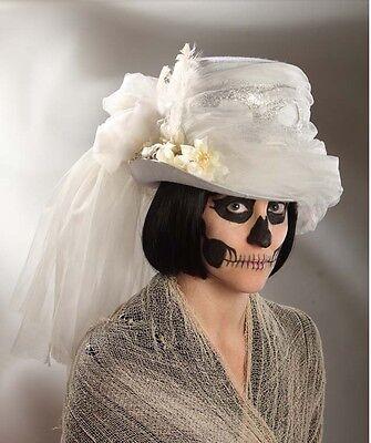Halloween Zombie Bride Haunting Masquerade Hat Costume Prop Bethany Lowe RL4714