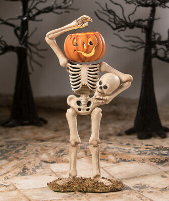 Bethany Lowe - Halloween - Pumpkin Head Bucket Skelly - TD8516