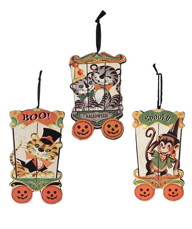 Halloween Big Top Ornaments - Retro Circus - Bethany Lowe RL7304