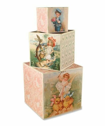 Bethany Lowe - Easter Wishes Nesting Block (Set of 3) - TP4144
