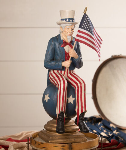 "Bethany Lowe 4th of July ""Uncle Sam On Pedestal"" TD9005"