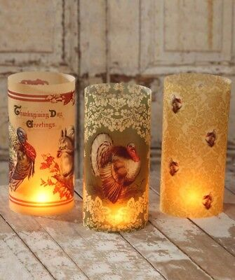 Bethany Lowe Vintage Style Thanksgiving Luminaries Set of 6 Turkey Decorations](Thanksgiving Home Decorations)