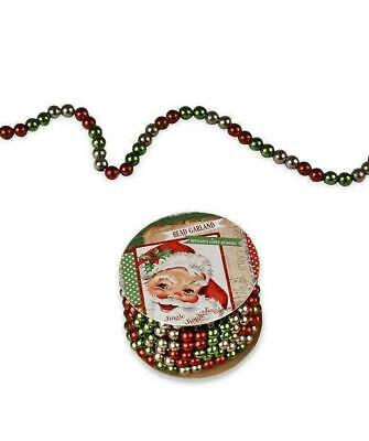 Bethany Lowe Designs Red, Green, Silver Mini Bead Christmas Garland