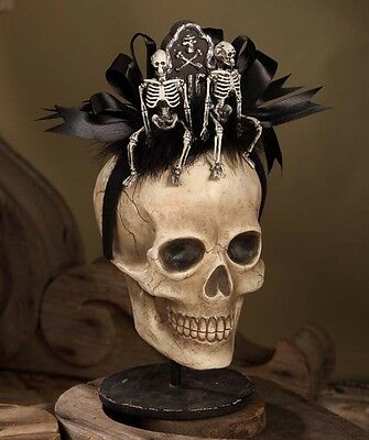 Halloween Tombstone with Skeletons Headband Hat Costume Prop Bethany Lowe RL1920