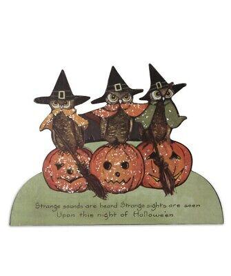 Bethany Lowe Designs Halloween Owl Trio Dummy Board Figure