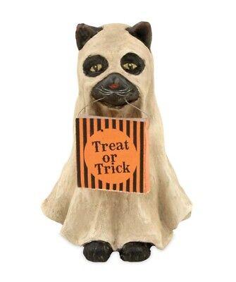 Bethany Lowe Halloween Spooky Ghost Black Cat Figurine ~ FREE SHIPPING