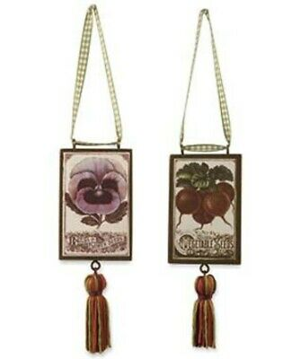 Bethany Lowe Designs Vintage Seed Packet Ornament Spring Garden