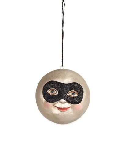 Bethany Lowe Designs Masked Moon Halloween Ornament