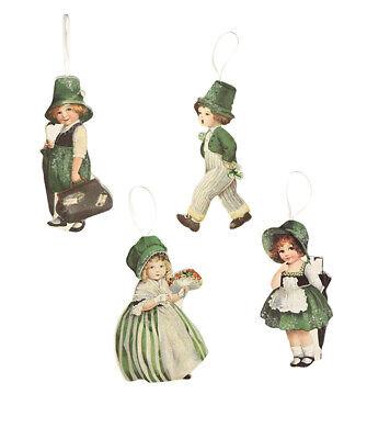 Bethany Lowe St Patricks Day Luck O The Irish Ornaments Decorations Set/4 - St Patricks Day Ornaments